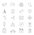 Navigation and location Icons Line Set Of copy vector image