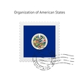 Organization of American States Flag Postage Stamp vector image