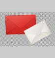 realistic 3d envelope post letter cover vector image