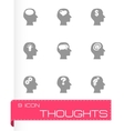 thoughts icon set vector image