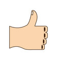 thumb up hand like vector image