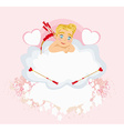 valentines frame with a sweet cupid vector image