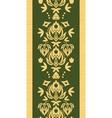 Wooden floral damask vertical seamless pattern vector image