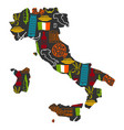 italy background design in shape of map italian vector image