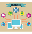 Concept of media marketing vector image