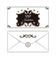 elegant horizontal envelope for vip invitations vector image vector image