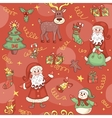Red christmas seamless pattern vector image vector image
