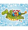 Dragon Children Present vector image
