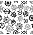 Nautical navigation ships helms seamless pattern vector image