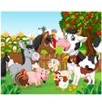Cartoon happy animal collection vector image