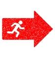 Exit Arrow Grainy Texture Icon vector image