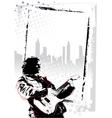 guitarist poster vector image