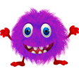 Hairy monster vector image