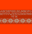 knitted merry christmas alphabet eps 10 vector image