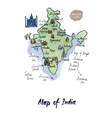 map of india watercolor vector image