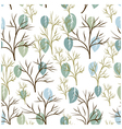 Seamless pattern of leaf and tree vector image