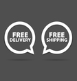 speech bubble of free delivery and shipping vector image