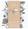 Coffee set in sketch style vector image