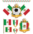 mexico flags vector image vector image