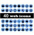 40 web icons vector image