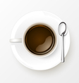 Cup of Coffee with spoon vector image