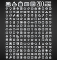 200 Sticker Icons vector image vector image