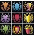 heraldry elements vector image