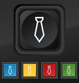 Tie icon symbol Set of five colorful stylish vector image