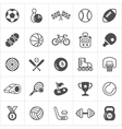 Trendy sport flat icons vector image