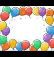 colorful helium balloon frame vector image