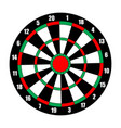 dart board dart target isolated on white vector image
