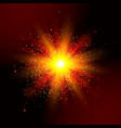 explosion light star explosion red glow vector image
