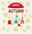 fashion Autumn Sale Background with Leaves vector image