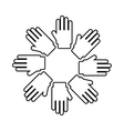 hands symbol diversity isolated icon design vector image