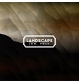 landscape over low poly background isolated icon vector image
