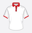 Polo majica bela crvena kragna resize vector image