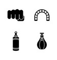punching bag simple related icons vector image
