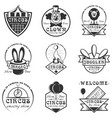 set of circus isolated labels logo and vector image