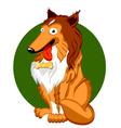 Shetland sheepdog cartoon vector image