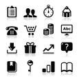 Website internet icons set vector image