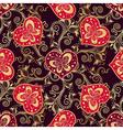 Valentine seamless dark pattern with purple hearts vector image vector image