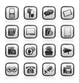 Contact and communication icons vector image vector image