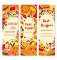 Fast food restaurant banner for menu flyer design vector image