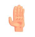 stop gesture hand sign cartoon vector image vector image