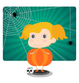 Little Jack o lantern Halloween girl vector image