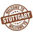 welcome to stuttgart brown round vintage stamp vector image