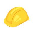 isometric yellow worker hat vector image