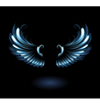 glowing angel wings vector image