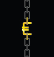 chains with euro steel vector image