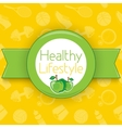 Active healthy lifestyle background vector image